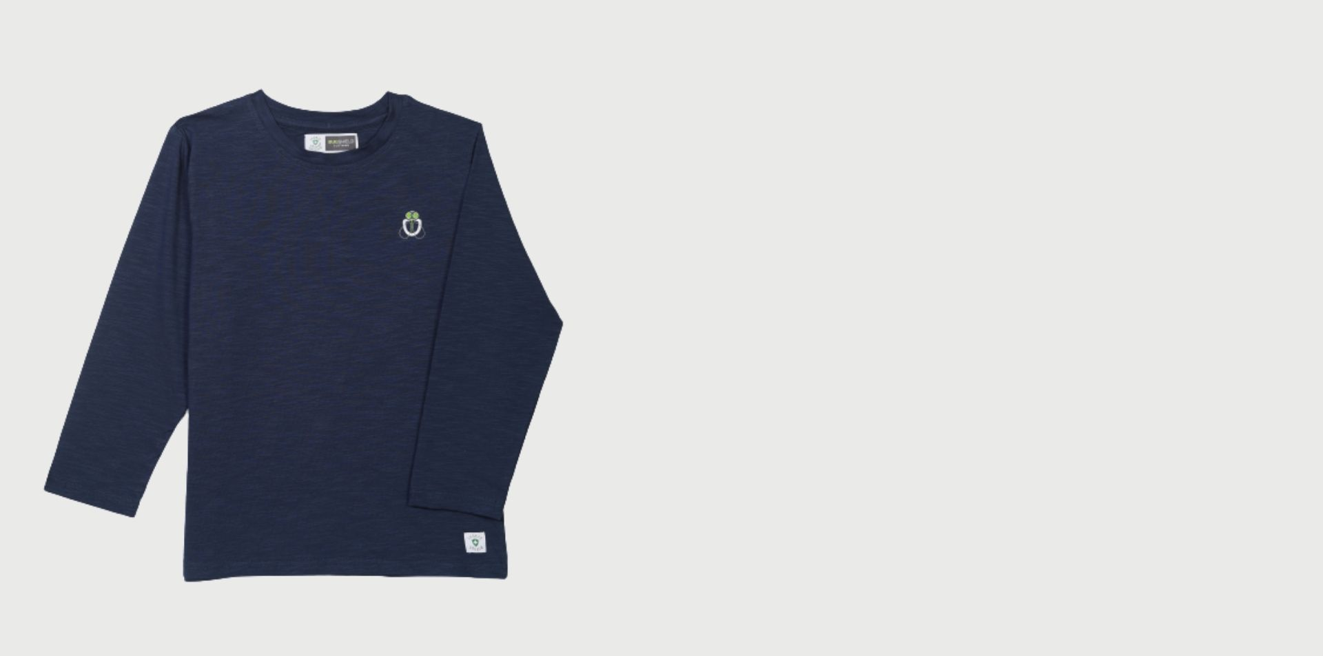 bugshield boy blue round neck