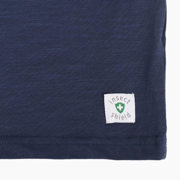 boy bugshield mosquito repellent tshirt blue detail