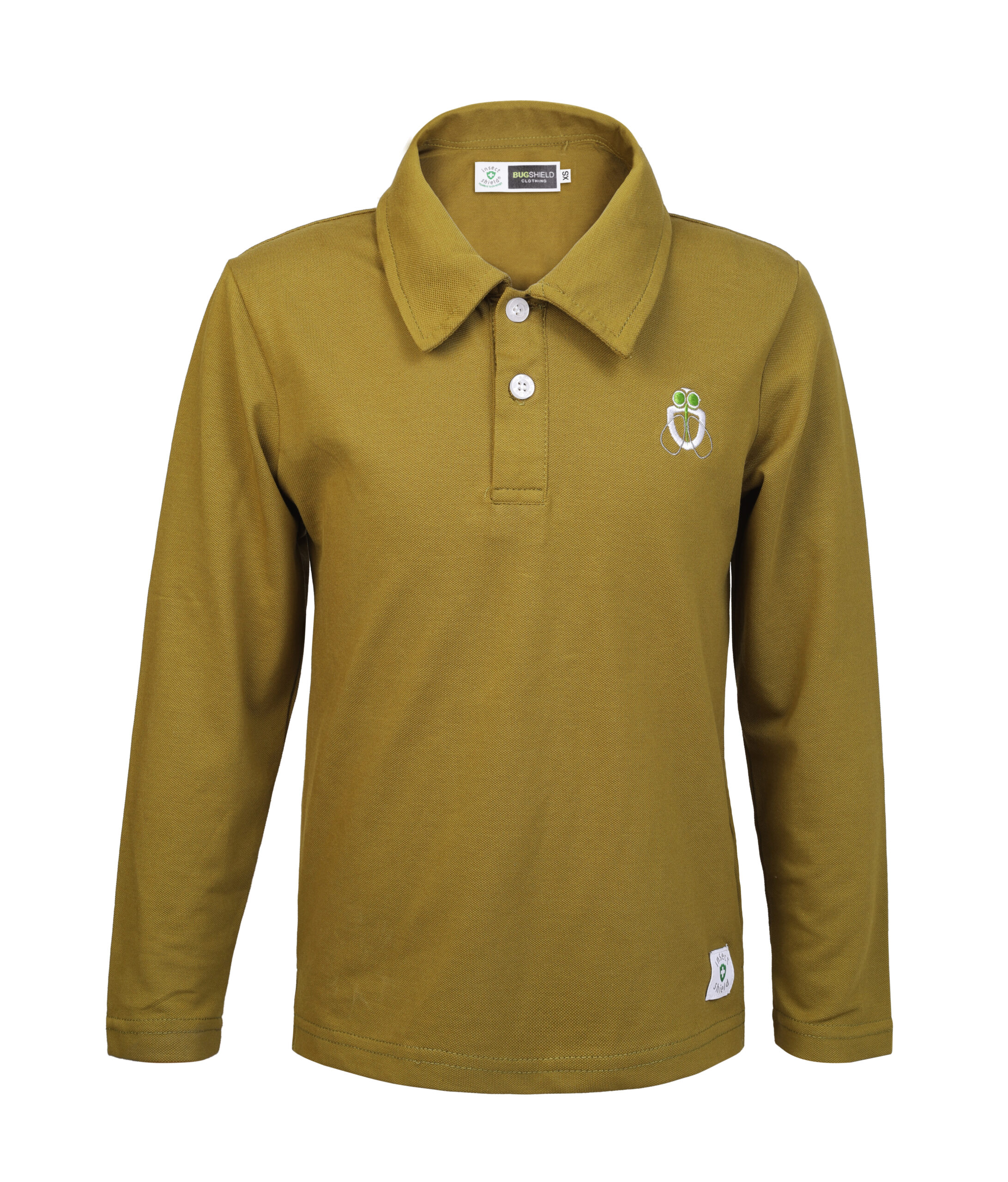 boy mosquito repellent olive polo front