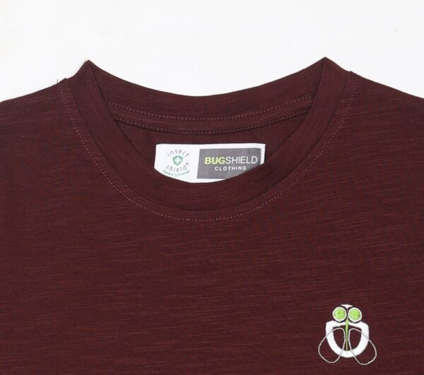 girls mosquito repellent top maroon neck