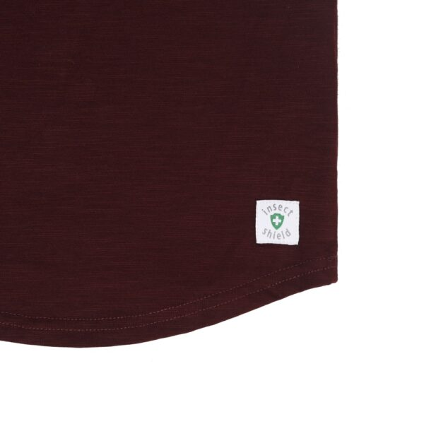 girls mosquito repellent top maroon detail